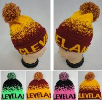 Knitted Hat with PomPom [CLEVELAND B] Digital Fade